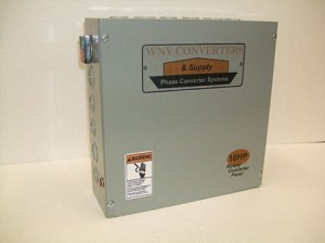10Hp Rotary phase converter control panel 230vac