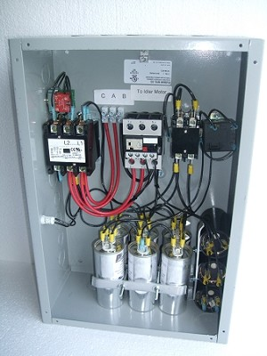 20Hp Gold series rotary phase converter control panel